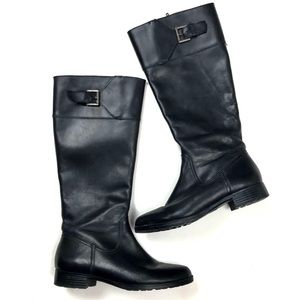 Ralph Lauren Sigrid Boots Black Leather Tall